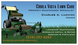 Chula Vista Lawn Business Card